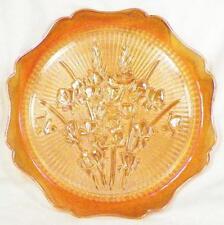 Iris & Herringbone 12 in. Sandwich Plate Platter Floragold Jeannette Vintage
