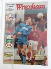 Wrexham v Colchester United Autoglass trophy second round December  1993