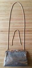 GLOMESH Original Vintage Small Gold Evening Clutch Handbag Purse w Chain Straps