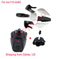 Black Plastics Fender Kit Fuel Tank Kawasaki KLX 110 KX 65 Suzuki DRZ 110 RM 65