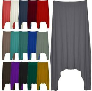 Womens Ladies Drop Low Crotch Harem Pants Trousers Baggy Alibaba Lagenlook