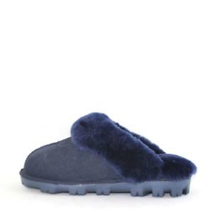 UGG Unisex Australian Sheepskin Water Resistant Luxy Wool Scuff - Navy