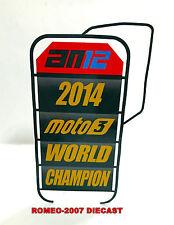 1:12 Pit board - pitboards Alex Marquez World Champion 2014 Moto3 to minichamps