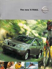 Nissan X-Trail 2001-02 UK Market Sales Brochure 2.0 2.2TD SE+ Sport S