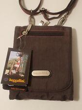 NEW Baggalini Travel Bag NWT Crossbody Shoulder Strap 10 Pockets Chocolate Brown