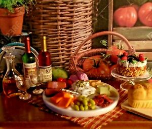 NEW DOLLHOUSE MEAT & CHEESE BUFFET PLATTER, STUNNING FOOD DISPLAY, COLORFUL