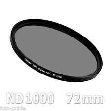 ND1000 Graufilter 72 mm Density Grey Tridax Pro Digital