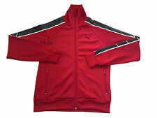 Puma Mens Clothing Sports Track Jacket Uk M Rrp £45 Red Rare Crazy Sample Top @