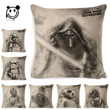 Star War Printed Throw Pillowcase Cushion Cover Chair Seat Cartoon Cushion Case