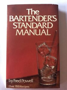 Bartenders Standard Manual 1979 Cocktail Ideas Home Pub Gift
