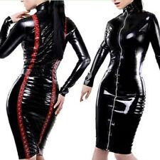Sexy Women's PVC Leather Bodycon Sleeveless Tight Mini Dress PLUS SIZE Clubwear
