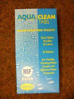 AquaTabs Water Treatment Purifyer Clean Drinking Water x 32 tablets steriliser