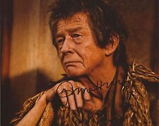 IMMORTALS: JOHN HURT 'OLD ZEUS' SIGNED 10x8 ACTION PHOTO+COA
