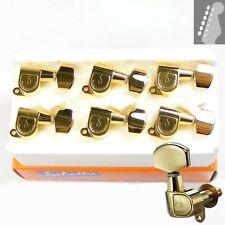 Schaller M6 L180 Mini Buttons tuners/machine heads, 6inline Gold 10010520