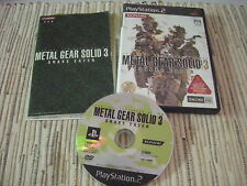 METAL GEAR SOLID 3 SNAKE EATER PLAYSTATION 2 PS 2 JAPONES USADO BUEN ESTADO