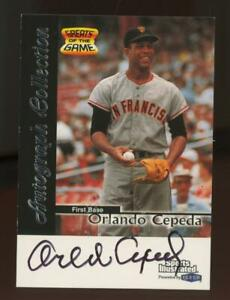 1999 Fleer Sports Illustrated Greats Of The Game Orlando Cepeda Auto