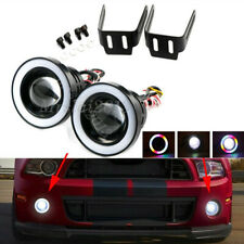 Pair 3'' Car LED Fog Light Projector COB Halo AngelEye Ring DRL Multi-Color RGB