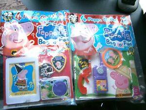 2 Peppa Pig Magazines  Bag O' Fun With Gifts Issue 142 & 141 (new)
