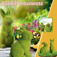 Artificial Grass Bunny Resin Rabbit For Easter Home Table Decorations AU H2T1