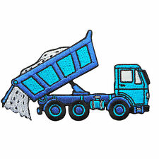 Truck Blue Dump Dumpers Tip Tipper Lorry Farm Tractor Kid Iron on Patches #MC028