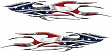 """AMERICAN FLAG Racing Boat Car Truck Trailer Graphics Decals Stickers Wrap 2- 50"""""""