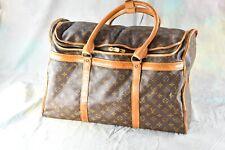 """Vintage LOUIS VUITTON Monogram Large Shoe Bag Suitcase 21"""" x 14"""" x 9.5"""" - A733"""