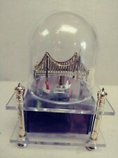 Vintage Golden Gate Bridge Music Box Westland Co Domed Very Good Condition