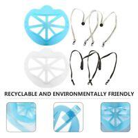 4pcs Support Masque intérieur lavable Maquillage Protéger support +4 x corde