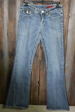 Vigoss Jeans size 5/6, 28in. waist, flare, button down pockets, double stitch