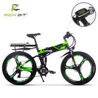 E-bike 250W 36V Electric Bike 21Speed Dual Suspension MTB Folding bicycle 2018