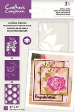 "Crafter's Companion ~ Layering Stencils ~ 3 piece ~ 5x7"" ~ Regal Rose"