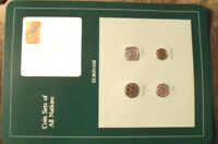 Coin Sets of All Nations Surinam Suriname 4 coin 1980 - 1985 UNC w/card