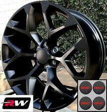 "20 inch GMC Sierra 1500 Factory Style Snowflake Wheels Satin Black Rims 20 x9"""
