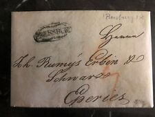 1839 Pressburg Astrian Empire Stampless Letter Cover To Eperies