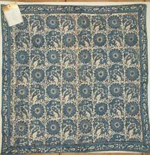 "Pottery Barn Aida Block Print Blue Pillow Cover 22"" #1472"