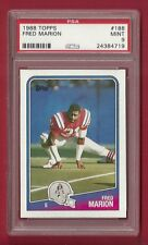 1988 TOPPS #188 FRED MARION PSA 9 MINT POP 4 PATRIOTS MIAMI HURRICANES