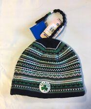 Boston Celtics Knit Beanie Toque Skull Cap Winter Hat NEW NBA Stripes with Braid