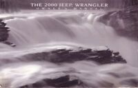 2000 Jeep Wrangler Owners Manual User Guide Reference Operator Book