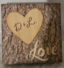 Small Wooden Decorative Art piece, in style of Tree Carving.