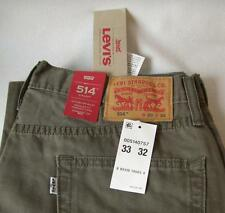 NEW Men's Levi's 514 Orignal Fit Padox Canvas Pants Jeans Straight Leg  33x32