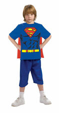 OFFICIALLY LICENSED SUPERMAN SHIRT w/CAPE CHILD HALLOWEEN COSTUME LARGE 12-14