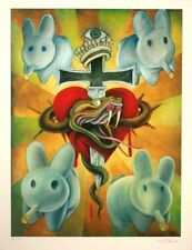 Frank Kozik SIGNED 2008 SDCC Crown of Bunnies Giclee Print AP LE 15 AUTOGRAPHED