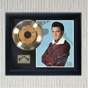 "Elvis Presley ""Burning Love"" Framed Reproduction Signed Record Display"