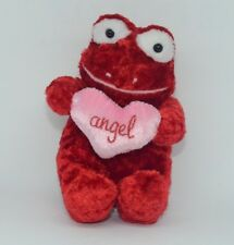 Commonwealth Red Big Eye Valentine Frog Pink Angel Heart Plush Stuffed Animal