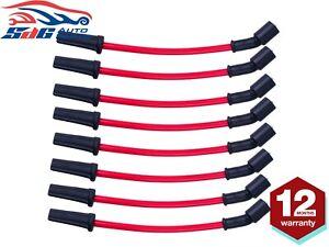 Red Spark Plug Leads 10.5mm For Holden Chev V8 LS1 5.7L VT VX VY VZ Gen 3