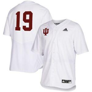 Adidas NCAA Indiana Univ. Hoosiers Baseball Jersey White/Red FL4921