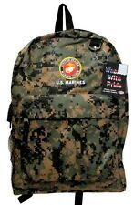 """U.S. MARINES NEW BACKPACK LICENSED WITH TAGS IN DIGITAL CAMO 12""""W x 17""""H x 5""""D"""