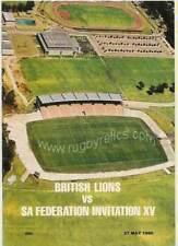 SA Federation XV v British Lions 27 May 1980 Stellenbosch RUGBY PROGRAMME