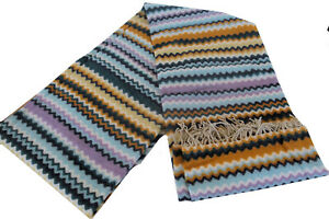 MISSONIHOME DECORATIVE THROW RICO 170 FRINGED 90% WOOL BRANDED PACK 130x190 cm