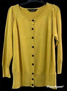 Dorothy Perkins Womens Yellow Cardigan Size UK 12 Euro 40